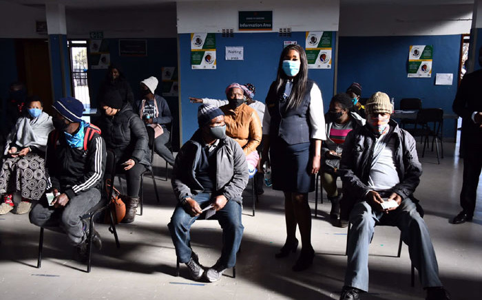 People wait for their vaccine jabs at the Rabasotho Community Centre vaccination site in Tembisa on 29 July 2021. Picture: @GautengProvince/Twitter