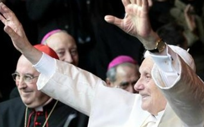 Outgoing Pope Benedict. Picture: AFP.