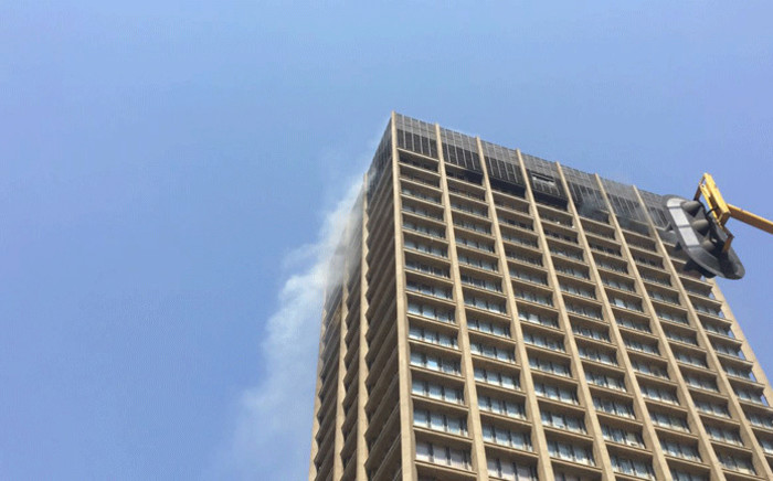 A fire at the Gauteng Health Department building in the Johannesburg CBD on 5 September 2018. Picture: EWN
