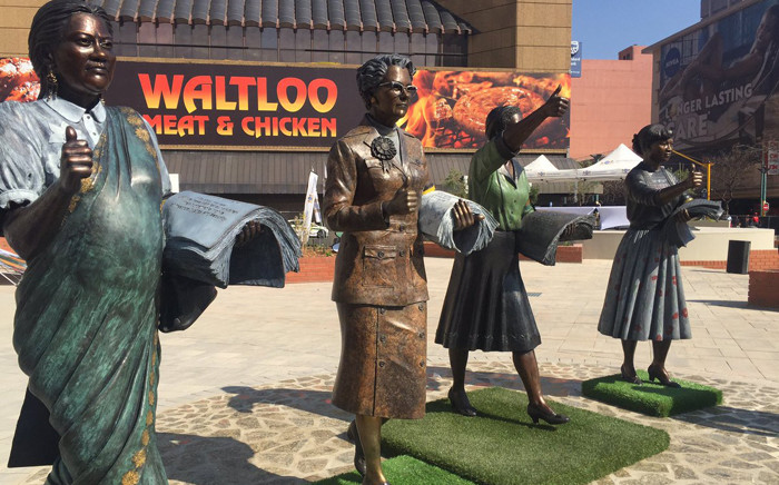 Government has officially launched the Women's Living Heritage Monument in Pretoria in honour of the women who marched against pass laws in 1956. Picture: Dineo Bendile/EWN