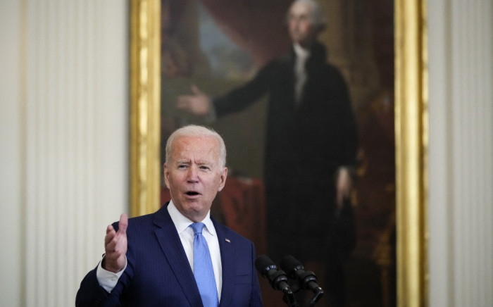 US President Joe Biden speaks during an event in the East Room of the White House on 23 August 2021 in Washington, DC. Picture: Drew Angerer/AFP