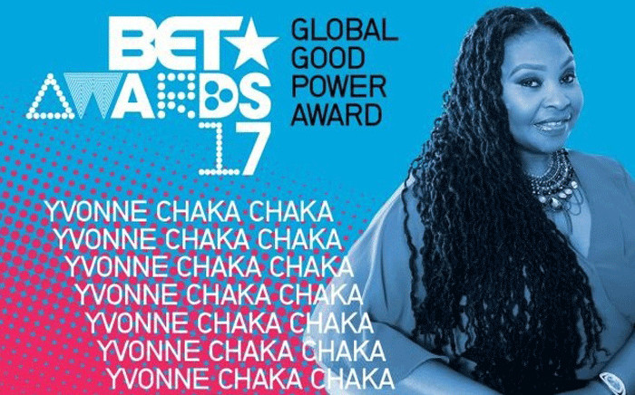 Yvonne Chaka Chaka received the International Global Good Star and Power Award at 2017 BET Awards. Picture: Twitter/@YvonneChakaX2