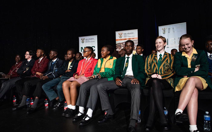 FILE: South Africa's top matric achievers on stage at the ministerial pass rate and prizegiving announcement on 7 January 2020. Picture: Kayleen Morgan/EWN