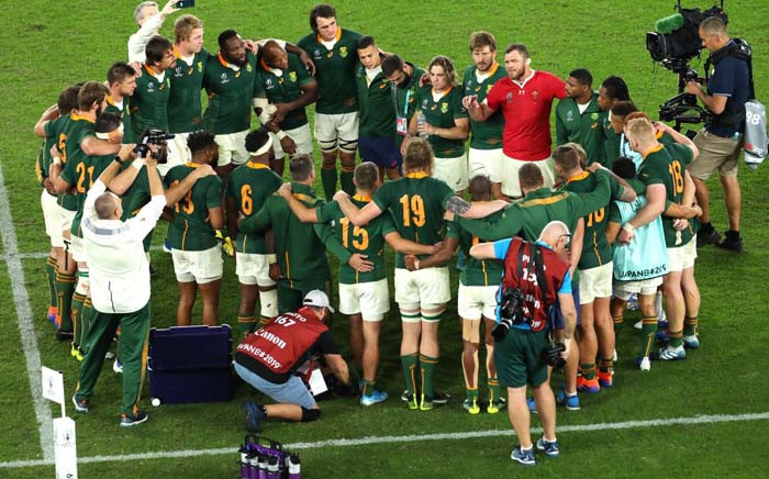 The Springboks at the Rugby World Cup 2019. Picture: Twitter/@Springboks