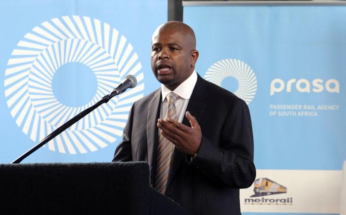 Former Passenger Rail Agency of South Africa (Prasa) head Lucky Montana. Picture: Alexander Joe/AFP.