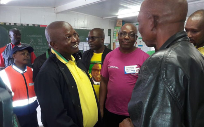 Deputy President David Mabuza at the Sediba Sa Thuto Primary School voting station in Mamelodi. Picture: @MYANC/Twitter