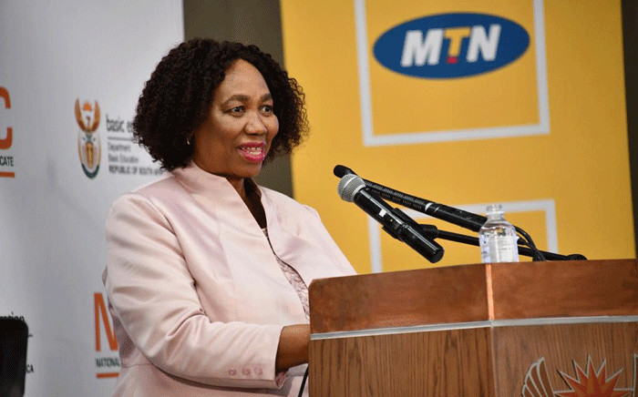 Minister of Basic Education Angie Motshekga announcing of the results of the 2020 National Senior Certificate (NSC) examinations on 22 February 2021 in Pretoria. Picture: GCIS.
