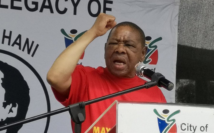 SACP general secretary Blade Nzimande at the 26th anniversary of the assassination of the Chris Hani on 10 April 2019. Picture: @SACP1921/Twitter