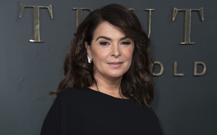 US actress Annabella Sciorra attends the premiere of 'Truth Be Told' in Beverly Hills on 11 November 2019. Picture: AFP.