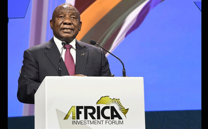 President Cyril Ramaphosa addresses the Africa Trade Investment Forum in Sandton. Picture: GCIS.