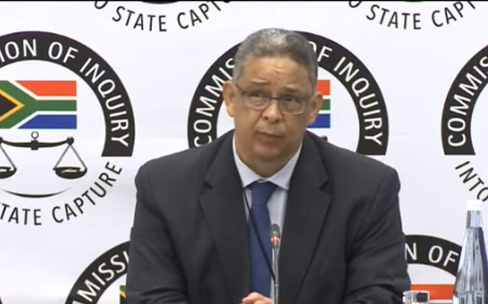 A screengrab of Robert McBride giving testimony at the state capture commission on 11 April 2019. Picture: SABC/YouTube