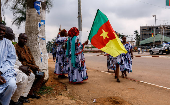 FILE: Supporters of Cameroonian President Paul Biya celebrate his re-election in Yaoundé on 6 November 2018. Picture: AFP