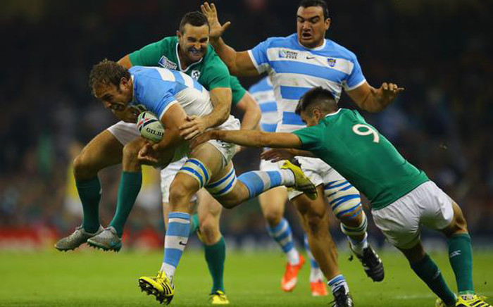 """Argentina vs Ireland in the Rugby World Cup quarterfinal at the Millennium stadium in Cardiff, Wales, on 18 October 2015. Picture: Rugby World Cup @rugbyworldcup."""""""