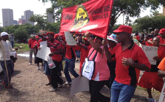 Samwu affiliated bus operators embark on a strike. Picture: EWN