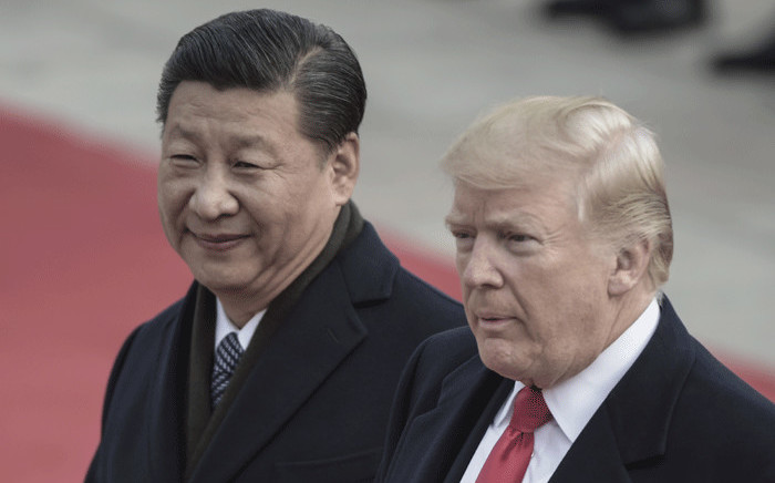 FILE: China's President Xi Jinping and US President Donald Trump. Picture: AFP.