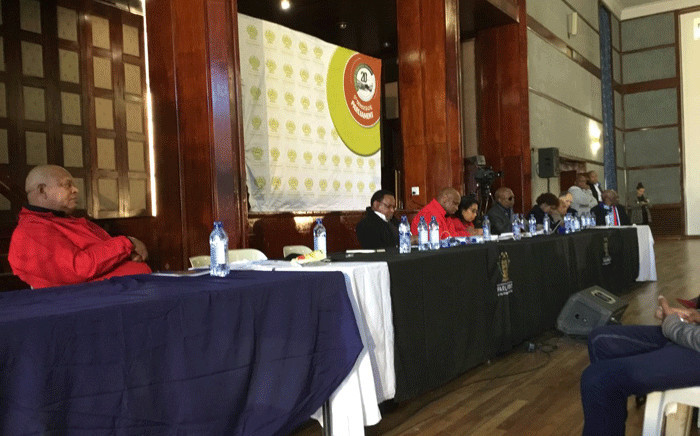 Members of Parliament's constitutional review committee pictured during a land debate in Welkom on 3 July 2018. Picture:  Kgomotso Modise/EWN.