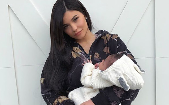 Kylie Jenner with her one-month-old daughter Stormi. Picture: @kyliejenner/Instagram