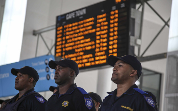 FILE: Rail enforcement officers at the Cape Town train station. Picture: EWN.