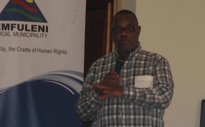 Simon Mofokeng presiding over an Emfuleni council meeting. Picture: Emfuleni Municipality