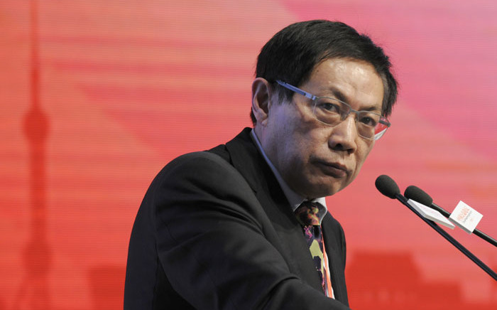 FILE: This photo taken on 18 November 2013 shows Ren Zhiqiang, the former chairman of state-owned property developer Huayuan Group, speaking at the China Public Welfare Forum in Beijing. Picture: AFP