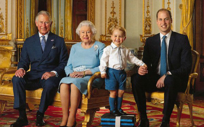 A family portrait to mark Queen Elizabeth IIs 90th birthday. Picture: Twitter @KensingtonRoyal.