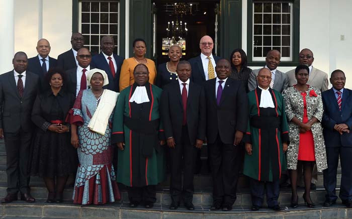 Group photo following swearing-in ceremony of the new National Executive at the Tuynhuis in Cape Town. Picture: GCIS