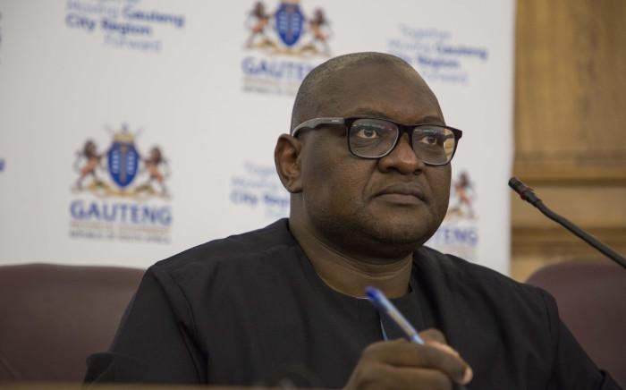 Gauteng Premier David Makhura announced Dikgang Moiloa as the new Human Settlements MEC in Gauteng on 13 March 2018. Picture: Ihsaa Haffejee/EWN