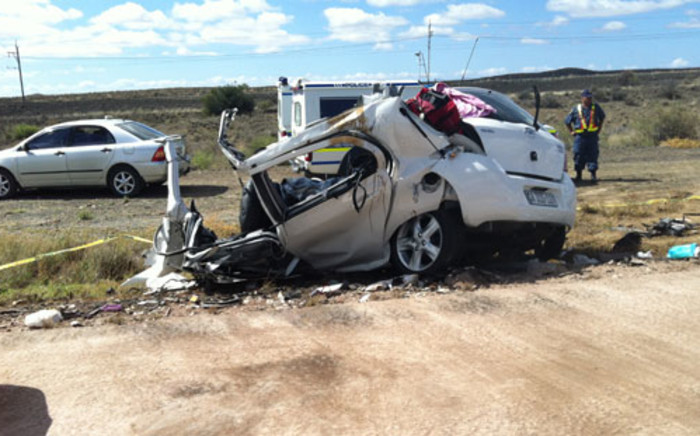 FILE: A car crash in the Western Cape on the N1 highway between Laingsburg and Beaufort West. Picture: Melvyn Boiskin/iWitness