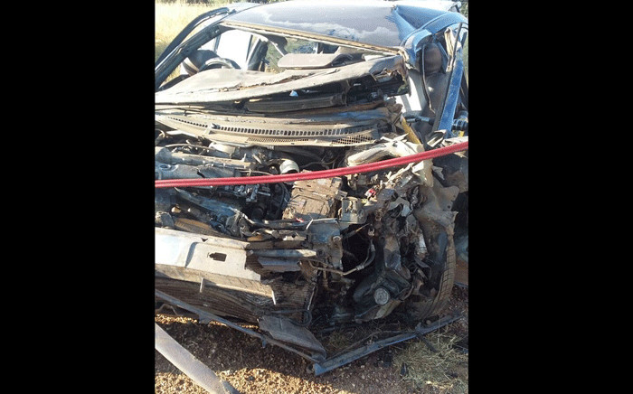 At least four people were killed motor vehicles collided head-on in Limpopo on Saturday, 5 May 2018. Picture: @SAPoliceService/Twitter.