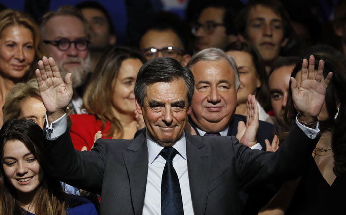 FILE: Francois Fillon (C). Picture :AFP.