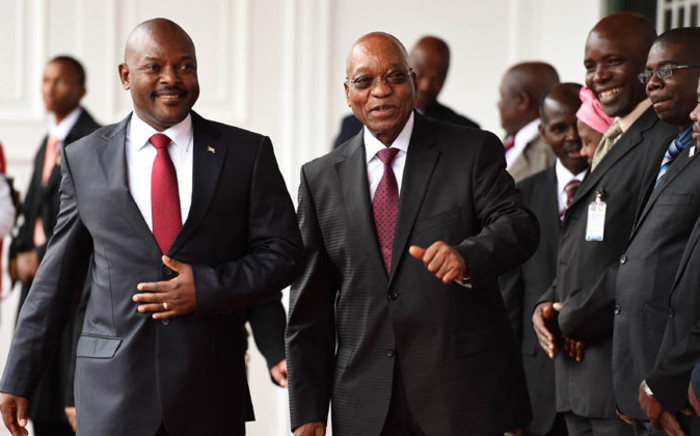 FILE: Pierre Nkurunziza and South African president Jacob Zuma. Picture: GCIS
