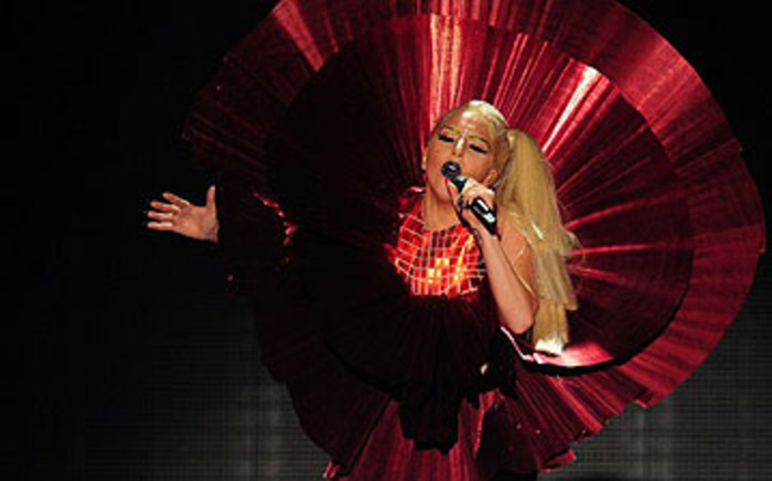 US pop star Lady Gaga performs on stage at the MTV European Music Awards on 6 November 2011. Picture: AFP