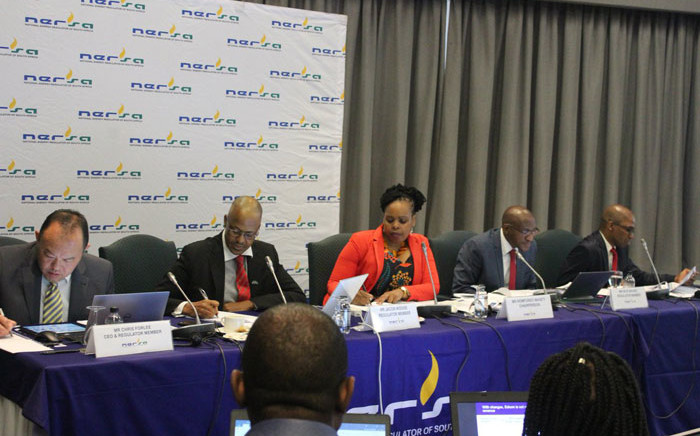 FILE: The Nersa panel listens to hearings on Eskom's proposed tariff increase. Picture: @NERSA_ZA/Twitter