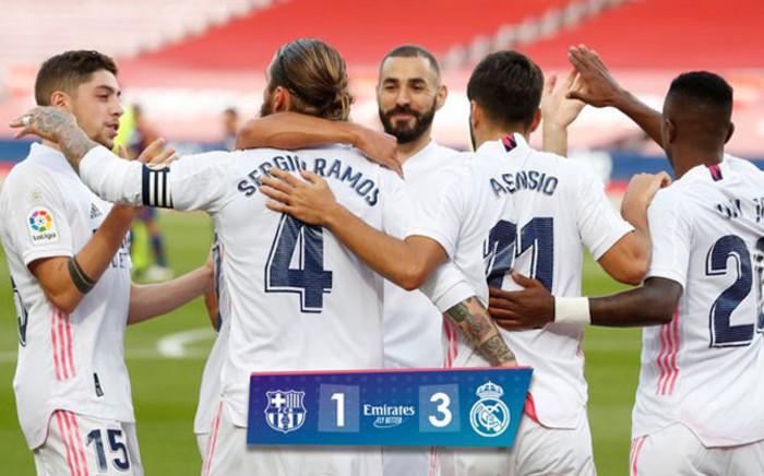 Real Madrid beat Barcelona 3-1. Picture: Twitter @realmadriden.