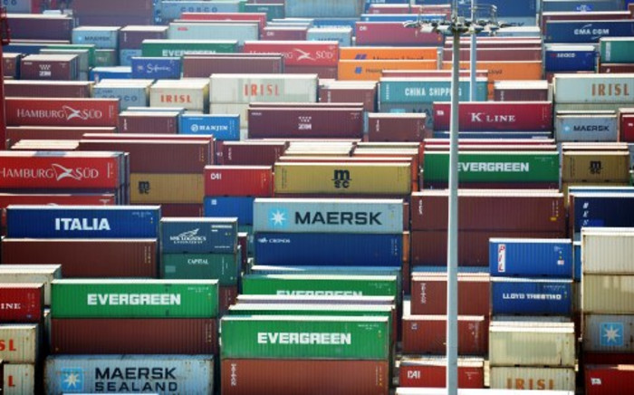 FILE: Containers staked up in the Port of Shanghai, China, 29 November 2013. Picture: AFP.