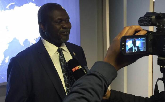 Former Vice President of South Sudan Riek Machar. Picture: Vumani Mkhize/EWN.