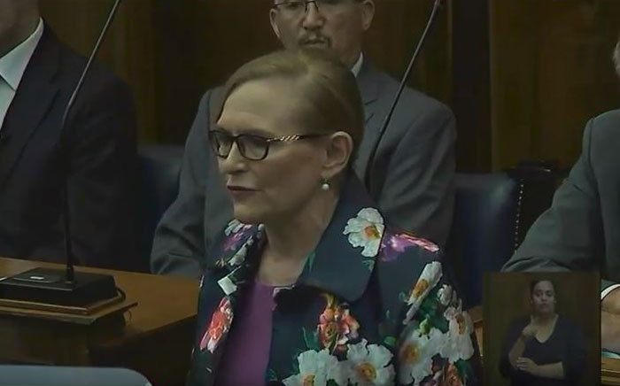 YouTube screengrab of Western Cape Premier Helen Zille delivering her State of the Province Address (Sopa) on 22 February 2018.