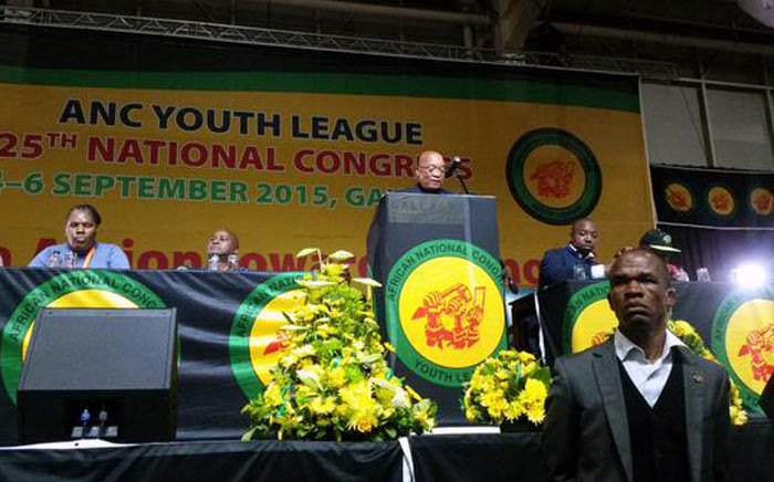 President Jacob Zuma delivered the keynote address at the ANC Youth League's conference in Midrand on Saturday 5 September 2015. Picture: ANCYL via Twitter.