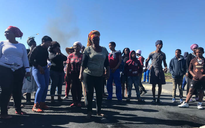 FILE: A group of disgruntled Vrygrond residents protesting for a piece of land next to the community. Picture: Cindy Archillies/EWN