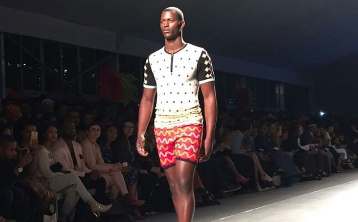 A design by Laduma Ngxokolo showcased at the Mercedes Benz Fashion Week incorporated Xhosa traditional attire with modern day clothing. Picture: @MB_FashionSA.