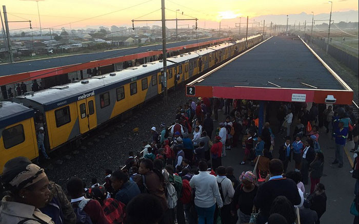 FILE. Three Metrorail carriages were set alight at the Cape Town Metrorail station. Picture: Shantel Moses/Supplied.