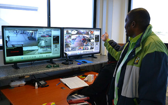 Anthony Daniels, the chairperson of the Hanover Park Community Policing Forum, says new CCTV cameras installed around a mall in the area have cut down crime. Picture: Aletta Gardner/EWN
