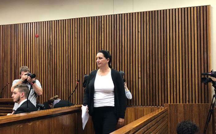 Convicted racist Vicki Momberg appearing in the Randburg magistrates court. Picture: Mia Lindeque/EWN