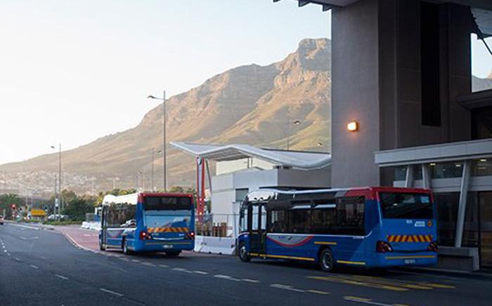 FILE: MyCiTi buses leave Cape Town. Picture: @MyCiTiBus/Twitter