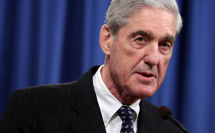 Special Counsel Robert Mueller makes a statement about the Russia investigation on 29 May 2019 at the Justice Department in Washington, DC. Picture: AFP