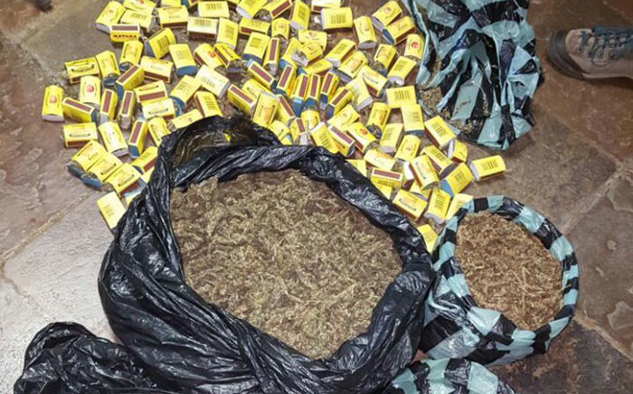 Yesterday, two people were arrested for being in possession of marijuana worth an estimated street value of more than R140,000. Picture: Tshwane Metro Police @TMPDSafety.