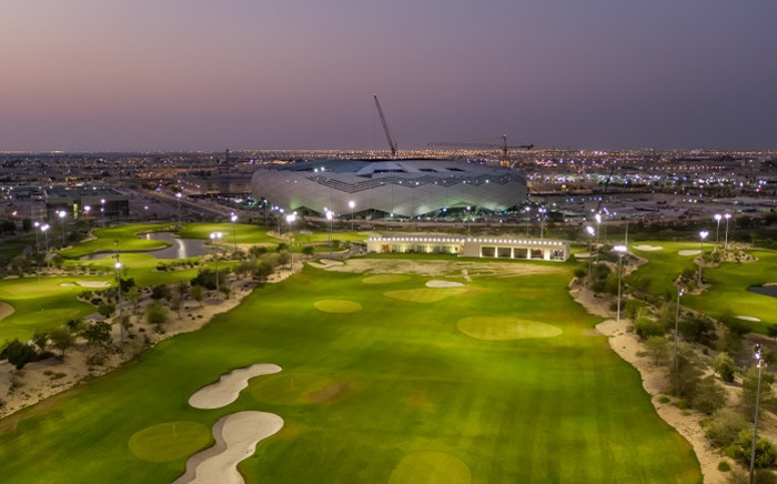A handout aerial picture received from Qatar's Supreme Committee for Delivery and Legacy on 20 November 2019, shows the Fifa World Cup 2022 Education City Stadium in the Qatari capital Doha. Picture: AFP.