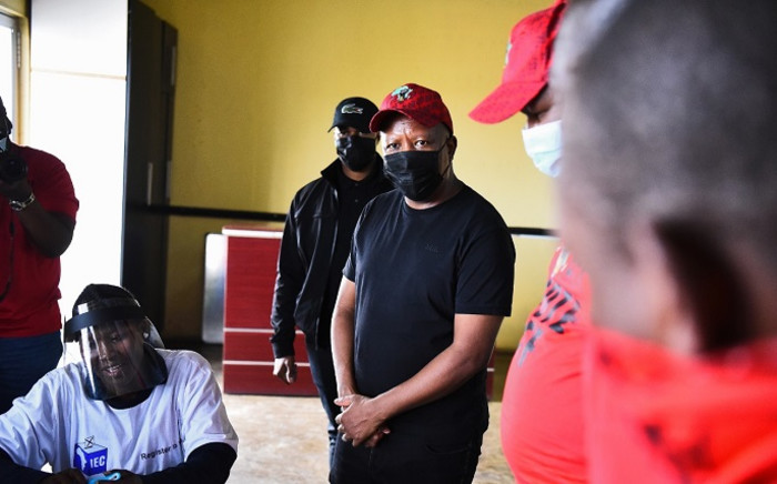 EFF leader Julius Malema in KZN on Saturday, 18 September 2021. Picture: EFF South Africa/Twitter.