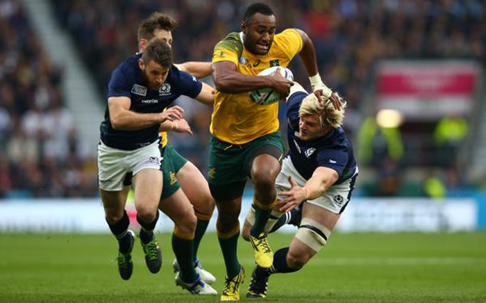 Scotland vs Australia in the Rugby World Cup quarterfinal at Twickenham on 18 October 2015. Picture: Rugby World Cup @rugbyworldcup.