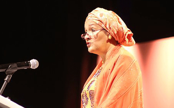 Amina Mohammed, the deputy secretary general of the UN, delivered the keynote address at the Nelson Mandela Lecture in Cape Town on 25 November 2017.Picture: @NelsonMandela/Twitter